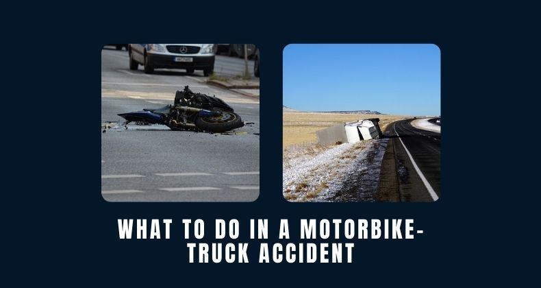 Motorbike-Truck Accident
